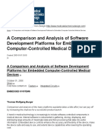 A Comparison and Analysis of Software Development Platforms for Embedded Computer-Controlled Medical Devices