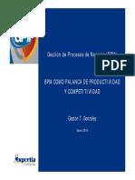 BPM Como Palanca de Productividad y Competitividad