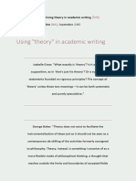 Accessibility Document Using Theory in Academic Writing