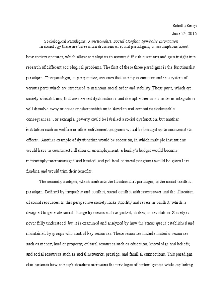 Sociological perspectives social conflict sociology biocorpaavc