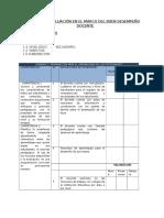 Ficha de Evaluación en El Marco Del Buen Desempeño Docente