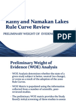 Rainy and Namakan Lakes Rule Curve Review
