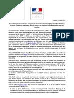 communiqué de presse ministère de la Santé sur l'acide valproïque