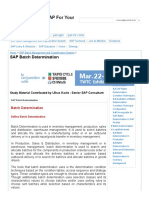 SAP Batch Determination - SAPs'WORD - We SAP for Your Cause