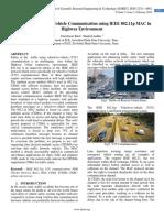 Analysis of Vehicle to Vehicle Communication using IEEE 802.11p MAC in Highway Environment