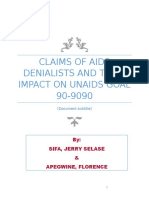 Claims of Aids Denialists and Their Impact on Unaids Goal 90