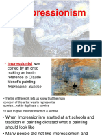 intro to impressionist movement