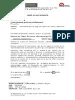 Modelo de Carta de Autorización FONDEPES