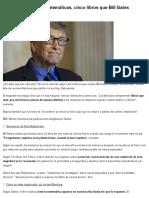 [Post] Libros Que Bill Gates Recomienda Leer