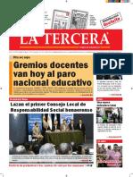 Diario La Tercera 24.08.2016