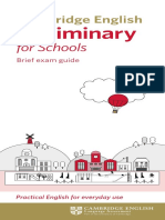 Cambridge English Preliminary for Schools Dl Leaflet