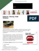Car Steering Pedal Vibrations Team Bhp