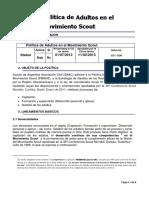 Politica de Adultos en el Movimiento Scout.pdf