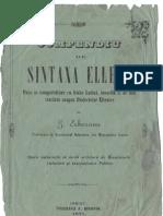 G. Erbiceanu - Sintaxa Ellena - Iasi - 1871