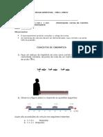 1° ANO - FISICA - LUCAS - PROVA BIMESTRAL
