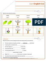 Reading Practice Seasons Worksheet v2