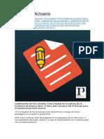 Acta Ante Actuario Del Protocolo Para Presentaciones Electrónicas