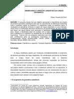 Da Gramática Nebrijiana à Variação Lingúistica da Língua Espanhola