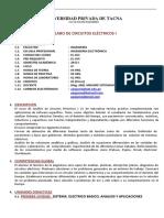 El-453 Circuitos Electricos i - 2015-i