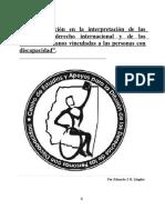 """""""La ponderación en la interpretación de las normas de derecho internacional y de los  derechos humanos vinculadas a las personas con discapacidad"""" - E. Llugdar"""