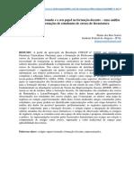 Artigo EnforO estágio supervisionado e o seu papel na formação docente – uma análise das representações de estudantes de cursos de licenciaturasup Estágio