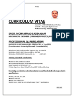 Curriculum Vitae 2016 of Md Sazid Alam Updated