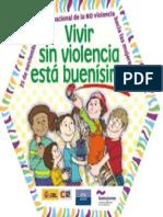 Afiche Vivir Sin Violencia 25N Chico