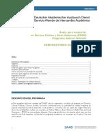 Daad Convocatoria Becas Para Maestrías en Política Pública y Buen Gobierno (PPGG) Programa Helmut Schmidt 2016