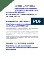 Datos Socio Economicos y Del Sector Electrico