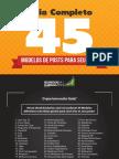 Guia Completo 45 Modelos de Posts Para Seu Blog