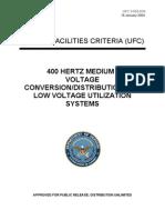 ufc 3-555-01n 400 hertz medium voltage conversion_distribution and low voltage utilization systems (16 january 2004)