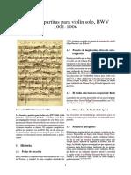 Sonatas y Partitas Para Violín Solo, BWV 1001-1006