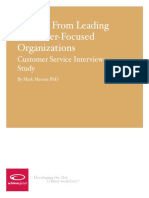 6. Lessons From Leading Customer Focused Organizations