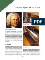 Seis Sonatas a Trío Para Órgano, BWV 525-530