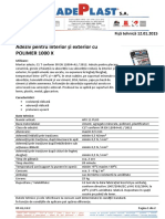 Adeziv Pentru Gresie Si Faianta Adeplast AFX 11 Plus 25 Kg - Fisa Tehnica