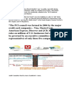 PCI Panel Firms and Audits