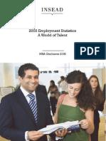INSEAD MBA 2008 Employment Statistics