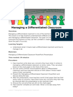 lesson 7 managing a differentiated classroom