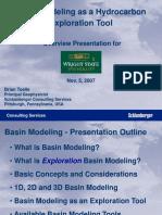 Basin Modeling as a Hydrocarbon Explorat