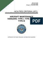 ufc 4-211-01n aircraft maintenance hangars - type i, type ii and type iii, with change 3 (16 december 2009)