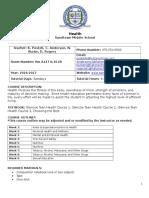 health syllabus 2016-2017
