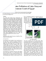 Monitoring Water Pollution of Lake Maryout on the Mediterranean Coast of Egypt