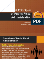 General Principles of Public Fiscal Administration