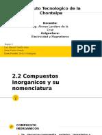 Electricidad 2.2 Compuestos Inorganicos y su nomenclatura