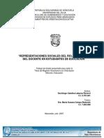 REPRESENTACIONES SOCIALES DEL ROL ORIENTADOR DEL DOCENTE EN ESTUDIANTES DE EDUCACIÓN