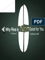 Why Rice is Not Good for You by Dr. ET Rasco Jr