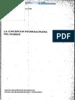 La concepcion Feurchbachiana del hombre