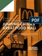 Jumping China's Great Food Wall