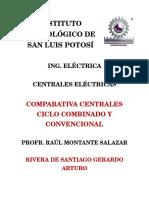 Comparativa Ciclo Combinado y Convencional Rivera de Santiago