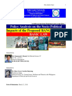 Bacud Policy Paper